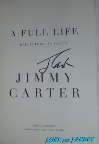 Jimmy Carter Book Signing Vroman's Pasadena CA Autograph Signed 3