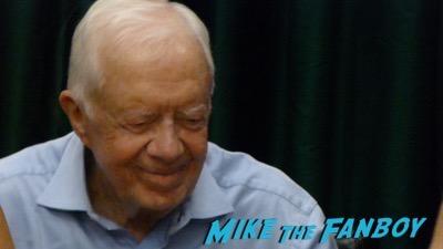 Jimmy Carter Book Signing Vroman's Pasadena CA Autograph Signed 8