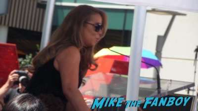 Mariah Carey walk of fame star ceremony signing autographs fan photo