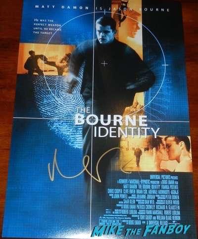 Matt damon signed bourne identity poster autograph