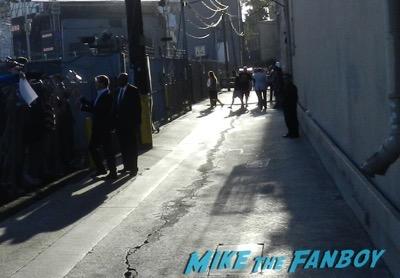 Pierce Brosnan signing autographs jimmy kimmel live 2015 1