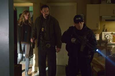 "THE STRAIN -- ""Quick and Painless"" -- Episode 205 (Airs August 9, 10:00 pm e/p) Pictured: (l-r) Ruta Gedmintas as Dutch Velders, Kevin Durand as Vasiliy Fet."