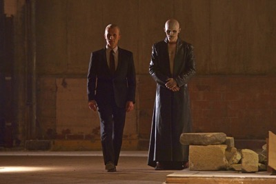 "THE STRAIN -- ""The Born"" -- Episode 207 (Airs August 23, 10:00 pm e/p) Pictured: (l-r) Richard Sammel as Thomas Eichhorst, Jack Kesy as The Master/Bolivar."