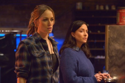 "THE STRAIN -- ""The Born"" -- Episode 207 (Airs August 23, 10:00 pm e/p) Pictured: (l-r) Ruta Gedmintas as Dutch Velders, Nicola Correia-Damude as Nikki."