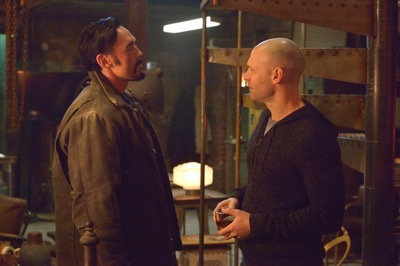 "THE STRAIN -- ""The Born"" -- Episode 207 (Airs August 23, 10:00 pm e/p) Pictured: (l-r) Kevin Durand as Vasiliy Fet, Corey Stoll as Ephraim Goodweather."