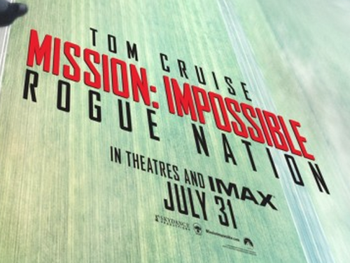 Mission Impossible Rogue Nation logo poster