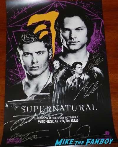 Supernatural signed autograph sdcc comic con poster 2015