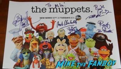 The Muppets signed poster autograph signing comic con 2015 ABC 6