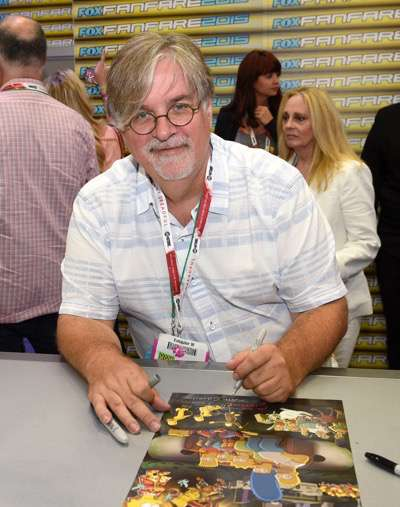 FOX FANFARE AT SAN DIEGO COMIC-CON © 2015: THE SIMPSONS executive producer Matt Groening during THE SIMPSONS booth signing on Saturday, July 11 at the FOX FANFARE AT SAN DIEGO COMIC-CON © 2015. CR: Alan Hess/FOX © 2015 FOX BROADCASTING.