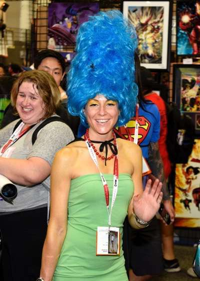 FOX FANFARE AT SAN DIEGO COMIC-CON © 2015: A fan during THE SIMPSONS booth signing on Saturday, July 11 at the FOX FANFARE AT SAN DIEGO COMIC-CON © 2015. CR: Alan Hess/FOX © 2015 FOX BROADCASTING.