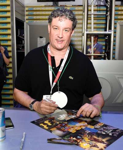 FOX FANFARE AT SAN DIEGO COMIC-CON © 2015: THE SIMPSONS executive producer Al Jean during THE SIMPSONS booth signing on Saturday, July 11 at the FOX FANFARE AT SAN DIEGO COMIC-CON © 2015. CR: Alan Hess/FOX © 2015 FOX BROADCASTING.