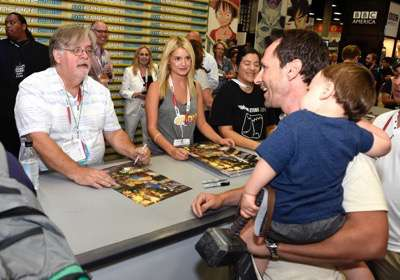 FOX FANFARE AT SAN DIEGO COMIC-CON © 2015: THE SIMPSONS executive producer Matt Groening (L) during THE SIMPSONS booth signing on Saturday, July 11 at the FOX FANFARE AT SAN DIEGO COMIC-CON © 2015. CR: Alan Hess/FOX © 2015 FOX BROADCASTING.