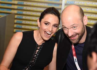 Mia Maestro, left, and Corey Stoll at the 'The Strain' booth signing during Comic-Con International 2015 at the San Diego Convention Center on July 12, 2015 in San Diego, California. Cr: Alan Hess/PictureGroup/FX