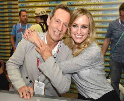 Jonathan Hyde, left, and Ruta Gedmintas at the 'The Strain' booth signing during Comic-Con International 2015 at the San Diego Convention Center on July 12, 2015 in San Diego, California. Cr: Alan Hess/PictureGroup/FX