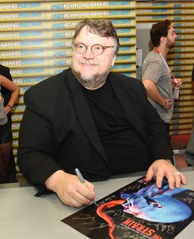 Creator/ Executive Producer / Writer, Guillermo del Toro at the 'The Strain' booth signing during Comic-Con International 2015 at the San Diego Convention Center on July 12, 2015 in San Diego, California. Cr: Alan Hess/PictureGroup/FX