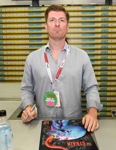 Co-Creator / Executive Producer / Writer, Chuck Hogan at the 'The Strain' booth signing during Comic-Con International 2015 at the San Diego Convention Center on July 12, 2015 in San Diego, California. Cr: Alan Hess/PictureGroup/FX