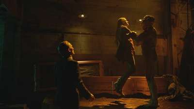 "THE STRAIN -- ""Identity"" -- Episode 206 (Airs August 16, 10:00 pm e/p) Pictured: (l-r) Richard Sammel as Thomas Eichhorst, Jack Kesy as Bolivar, Robert Maillet as The Master. CR: Michael Gibson/FX"