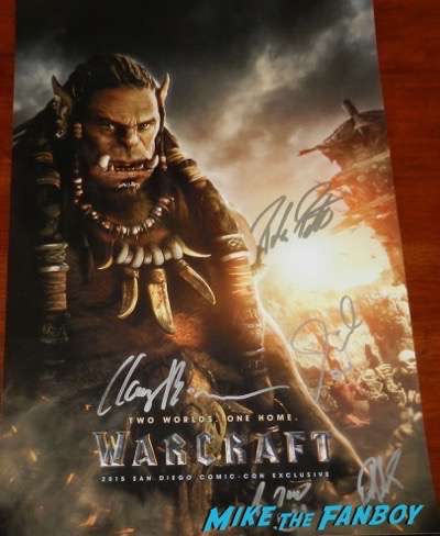 Warcraft Horde autograph signed poster clancy brown paula patton