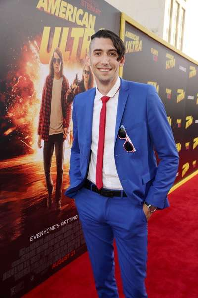 Screenwriter Max Landis seen at The World Premiere of Lionsgate's 'American Ultra' at Ace Hotel on Tuesday, August 18, 2015, in Los Angeles, CA. (Photo by Eric Charbonneau/Invision for Lionsgate/AP Images)