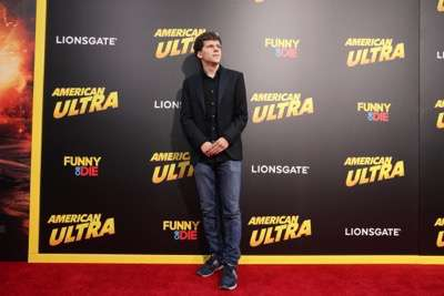 Jesse Eisenberg seen at The World Premiere of Lionsgate's 'American Ultra' at Ace Hotel on Tuesday, August 18, 2015, in Los Angeles, CA. (Photo by Eric Charbonneau/Invision for Lionsgate/AP Images)