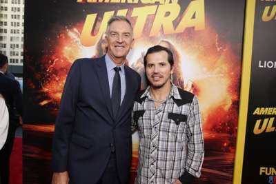 Steve Beeks, Co-Chief Operating Officer and President of Lionsgate Motion Picture Group, and John Leguizamo seen at The World Premiere of Lionsgate's 'American Ultra' at Ace Hotel on Tuesday, August 18, 2015, in Los Angeles, CA. (Photo by Eric Charbonneau/Invision for Lionsgate/AP Images)