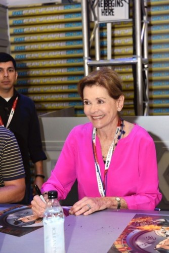 Jessica Walter during The 'Archer' booth signing at Comic-Con International 2015 in San Diego, California.  Cr: Alan Hess/PictureGroup/FX