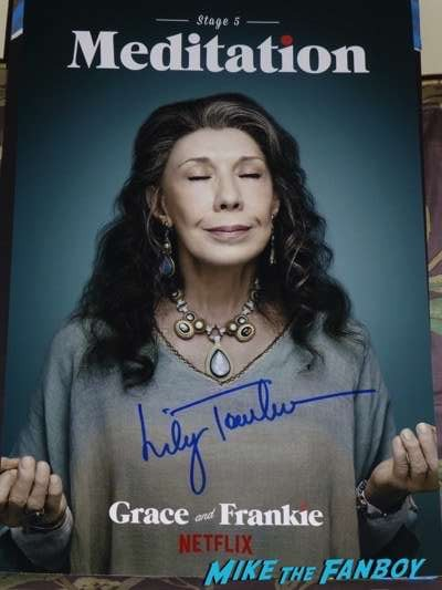 lily tomlin signed autograph grace and frankie poster