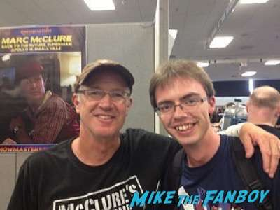 Marc McClure (Dave McFly) london film and comic con back to the future reunion lea thompson 1