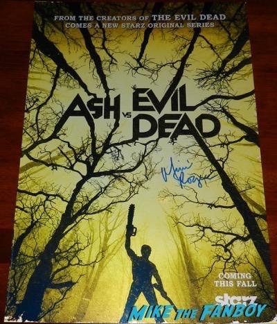 mimi rogers signed ash vs. evil dead mini poster autograph