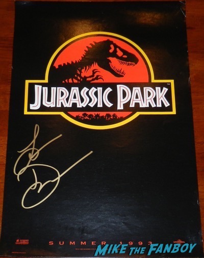 laura dern signed autograph Jurassic Park mini poster