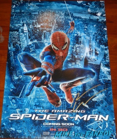 Andrew Garfield signed autograph spider man poster