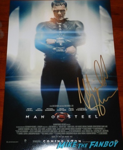 michael shannon signed autograph man of steel zod mini postermichael shannon signed autograph man of steel zod mini poster