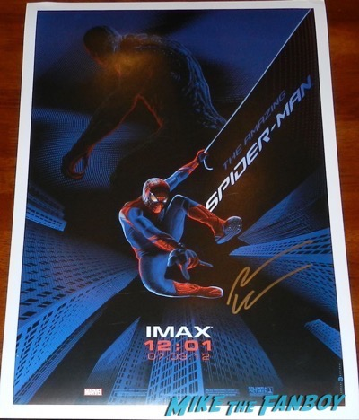 Andrew Garfield signed autograph spider man imax poster
