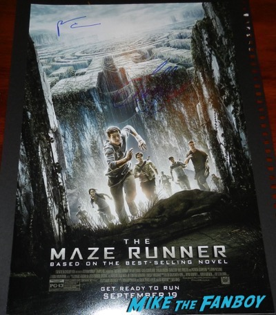 patricia clarkson signed the maze runner poster autograph