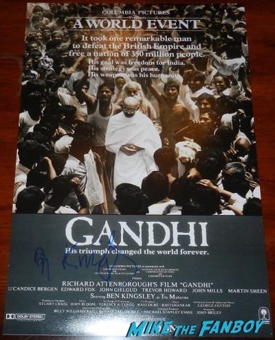Ben Kingsley signed autograph gandhi poster movie