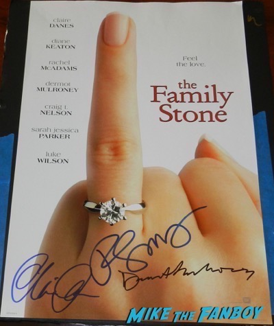 claire danes signed autograph The Family Stone poster