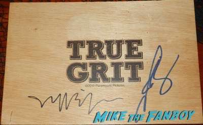josh brolin jeff bridges signed autograph true grit promo flask box