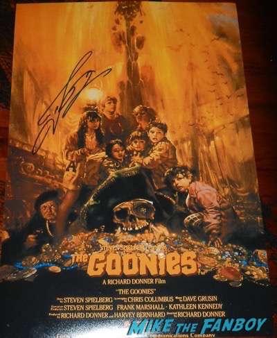 josh brolin signed autograph goonies mini poster