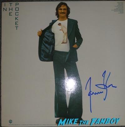James Taylor signed autograph album