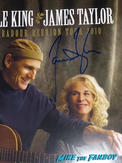 James Taylor signed autograph carol king program