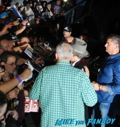 Johnny Depp signing autographs Roxy Theater 10