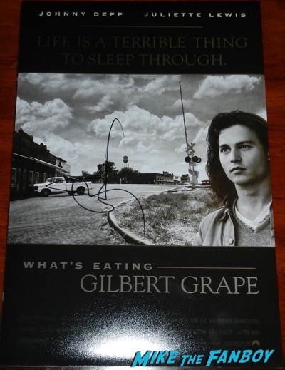Johnny Depp signed autograph what's eating gilbert grape poster