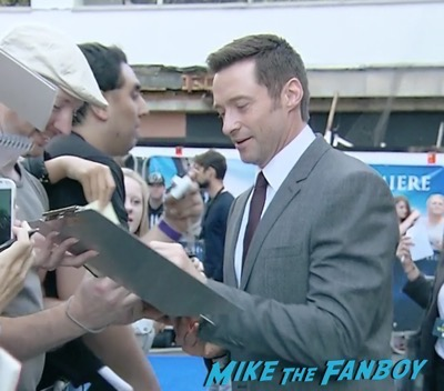 Pan UK London world premiere hugh jackman signing autographs 1