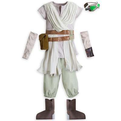 Rey Costume for Kids - Star Wars: The Force Awakens. .Available at Disney Store.MSRP: $59.95.Available: September 4. .For scavenging desert planets, making speedy escapes, and other epic adventures, our Rey Costume for Kids is the perfect fit. The tunic comes with pants, detached sleeves, boot covers and goggles...