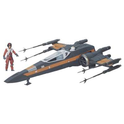 STAR WARS: THE FORCE AWAKENS POE DAMERON?S X-WING Vehicle (Ages 4 years & up/Approx. Retail Price: $49.99/Available: Fall 2015) Battle the FIRST ORDER head on in POE DAMERON?S X-WING! Lead BLACK SQUADRON into battle with this starfighter equipped with a projectile cannon, opening and closing wings and an exclusive 3.75-inch special edition POE DAMERON figure.