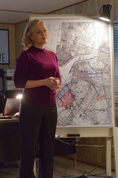 "THE STRAIN -- ""The Battle For Red Hook"" -- Episode 209 (Airs September 6, 10:00 pm e/p) Pictured: Samantha Mathis as Justine Feraldo. CR: Michael Gibson/FX"