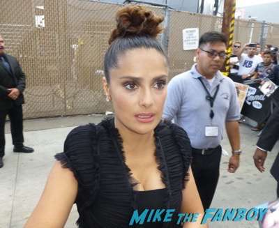 Salma Hayek fan photo signing autographs jimmy kimmel live 2