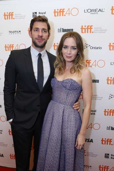 John Krasinski and Emily Blunt seen at Lionsgate 'Sicario' Premiere at the 2015 Toronto International Film Festival on Friday, September 11, 2015, in Toronto, CAN. (Photo by Vito Amali/Invision for Lionsgate/AP Images)