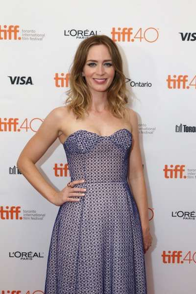 Emily Blunt seen at Lionsgate 'Sicario' Premiere at the 2015 Toronto International Film Festival on Friday, September 11, 2015, in Toronto, CAN. (Photo by Vito Amali/Invision for Lionsgate/AP Images)