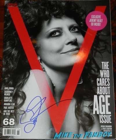 Susan Sarandon signed autograph v magazine cover